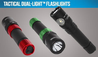 Tactical Dual-Light Flashlights